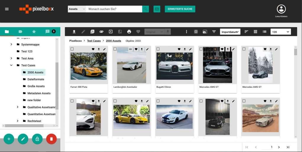 Das Bild zeigt einen Screenshot der Pixelboxx.